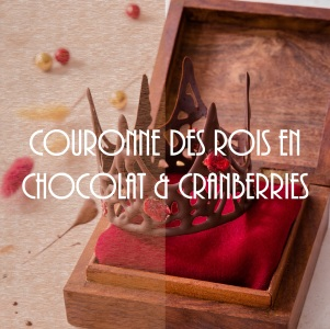 Recette de couronne royale au chocolat et cranberries