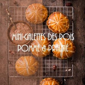Recette de mini galettes des rois faciles pomme et praliné noisette