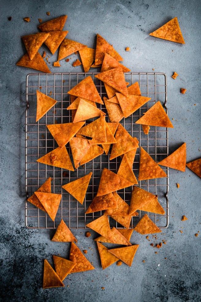 Chips nachos gratinés au comté - mexican food photography