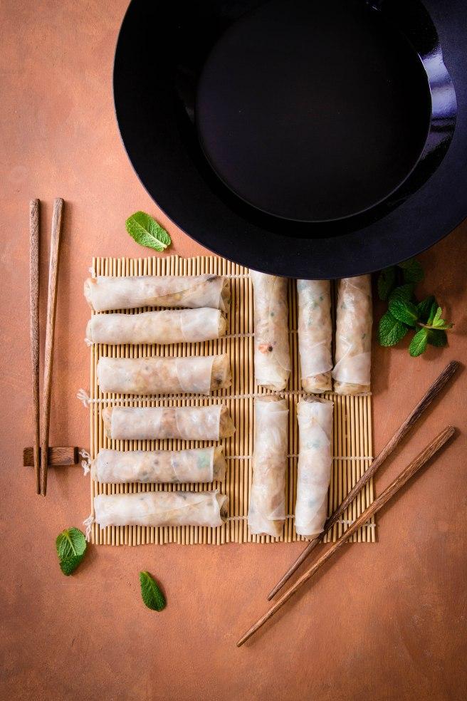 Nems vegan aux légumes - Vietnam food photography