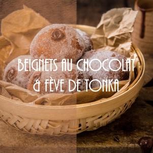 Recette de beignets au chocolat et à la fève de Tonka