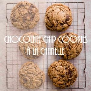 Recette de chocolate chip cookies à la cannelle