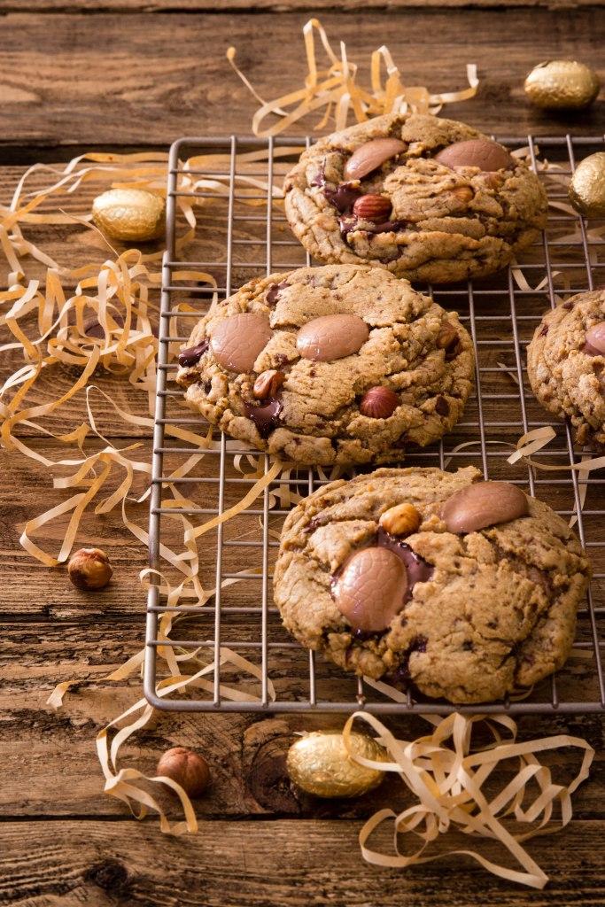 Cookies de Pâques au chocolat noir et noisette - easter photography