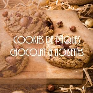 Cookies de Pâques chocolat noir et noisettes