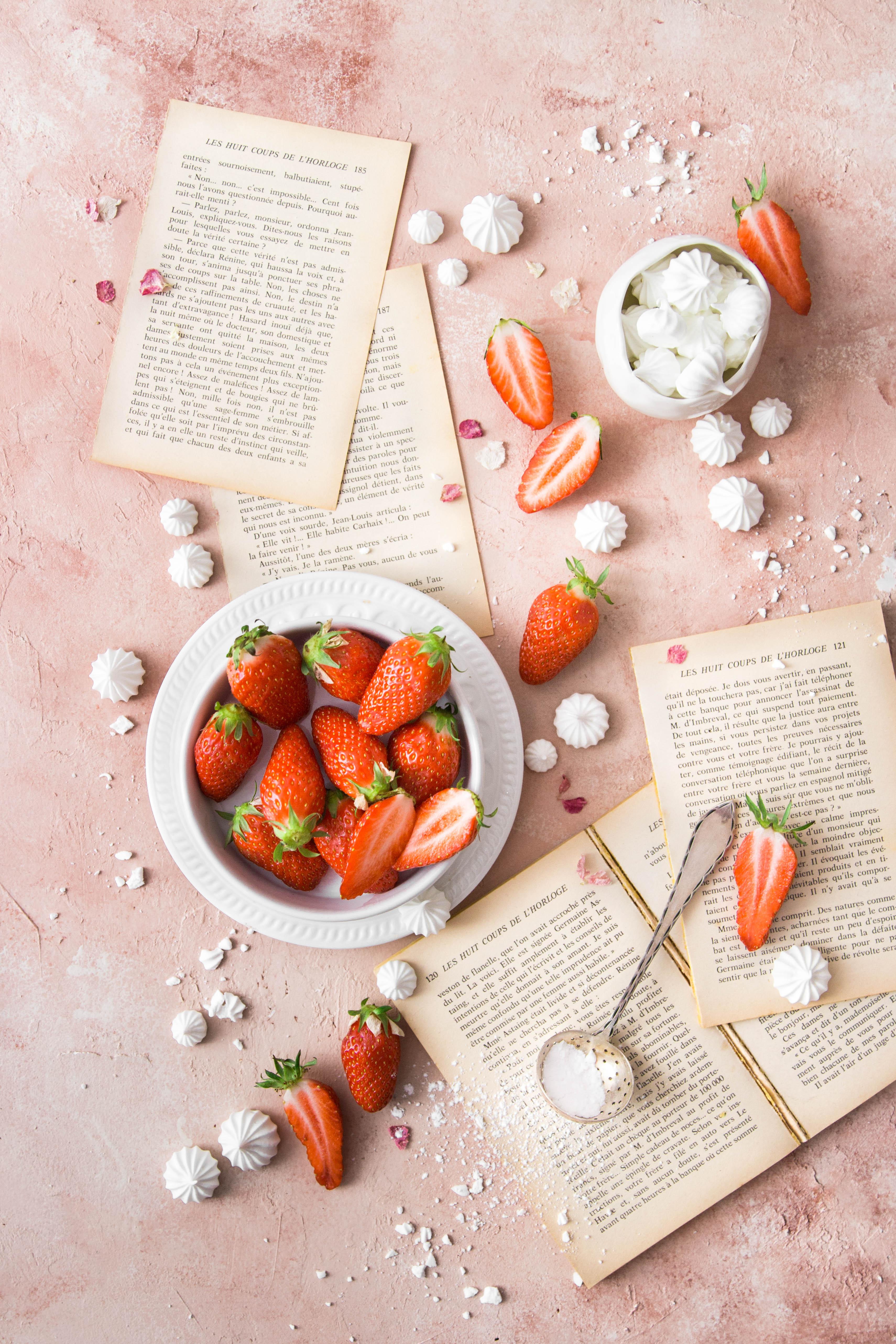 Trifle aux fraises et à la fleur d'oranger - photography