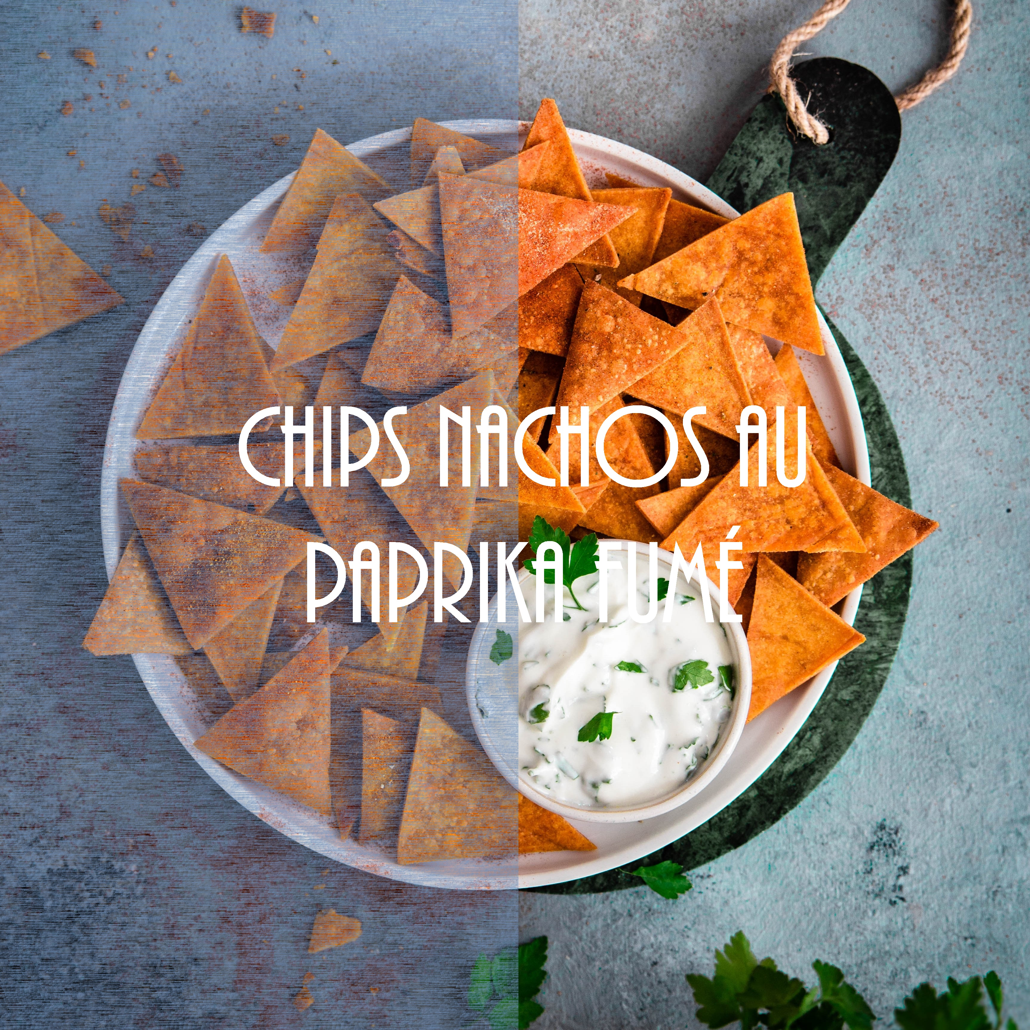 Chips nachos au paprika fumé