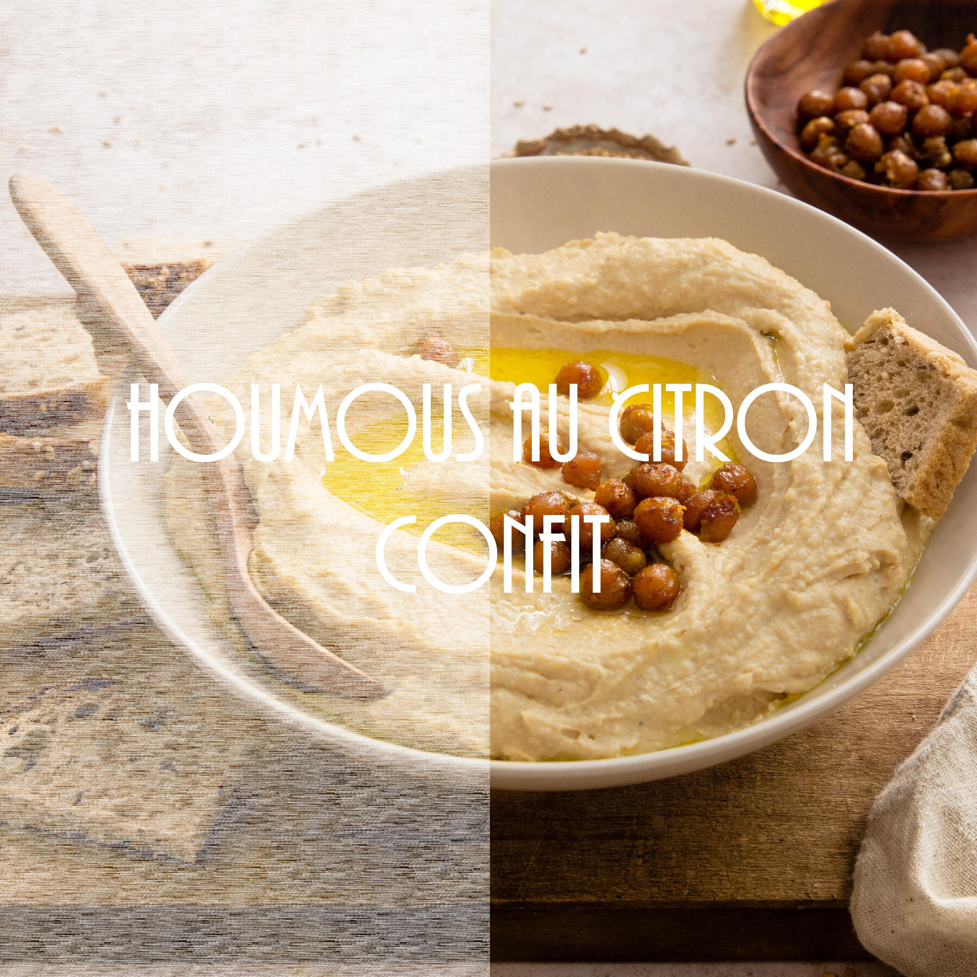 Houmous au citron confit - Liban food photography