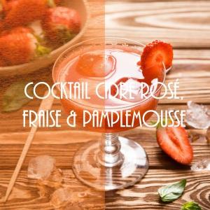 Cocktail au cidre rosé, fraise et pamplemousse - photography