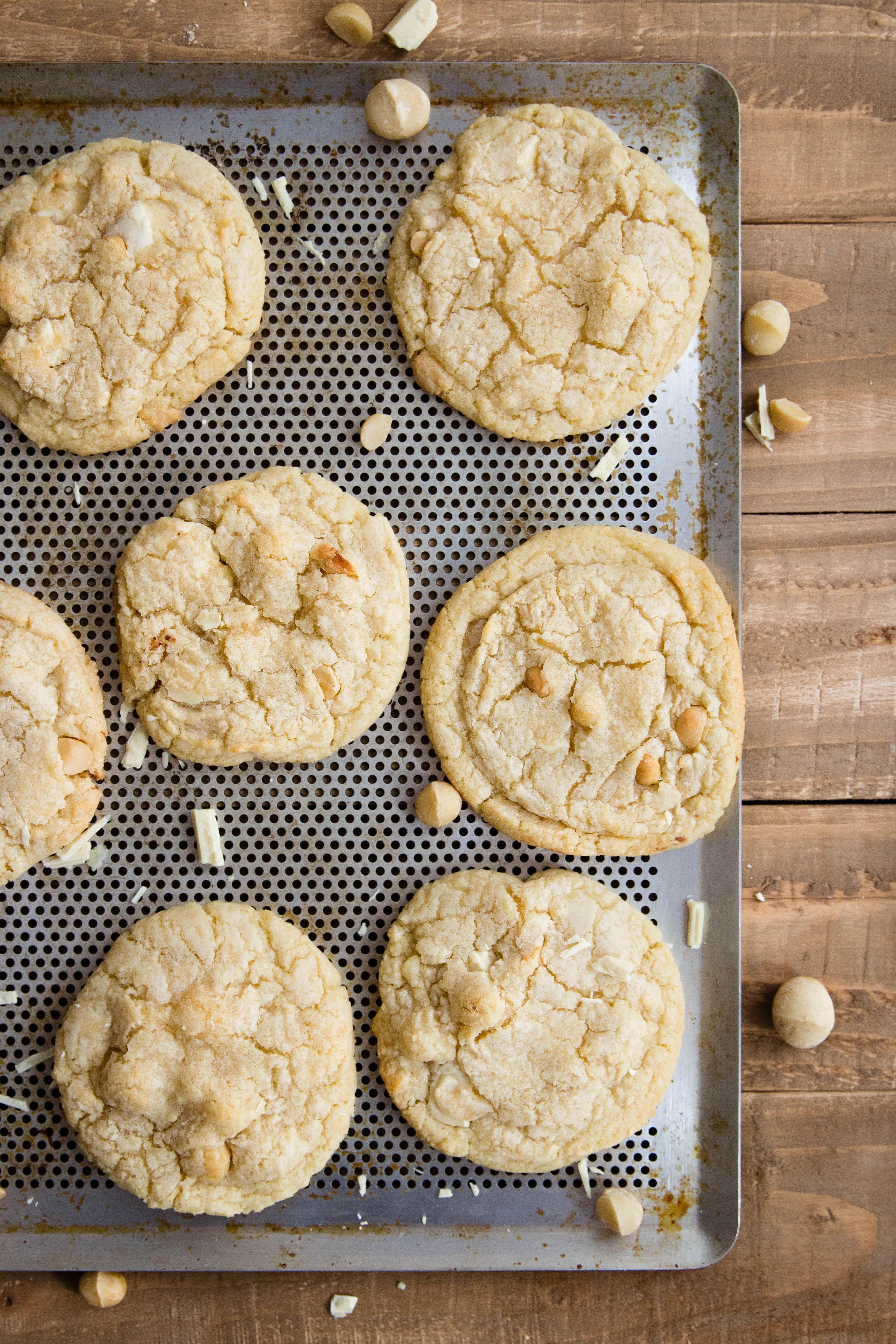 Cookies au chocolat blanc, coco et noix de macadamia - photography