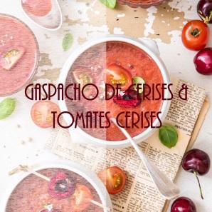 Gaspacho de cerises et tomates cerises - photography