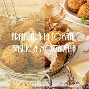Arancini à la tomate, basilic et mozzarella - photography
