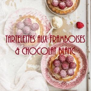 Tartelettes faciles aux framboises et chocolat blanc - photography